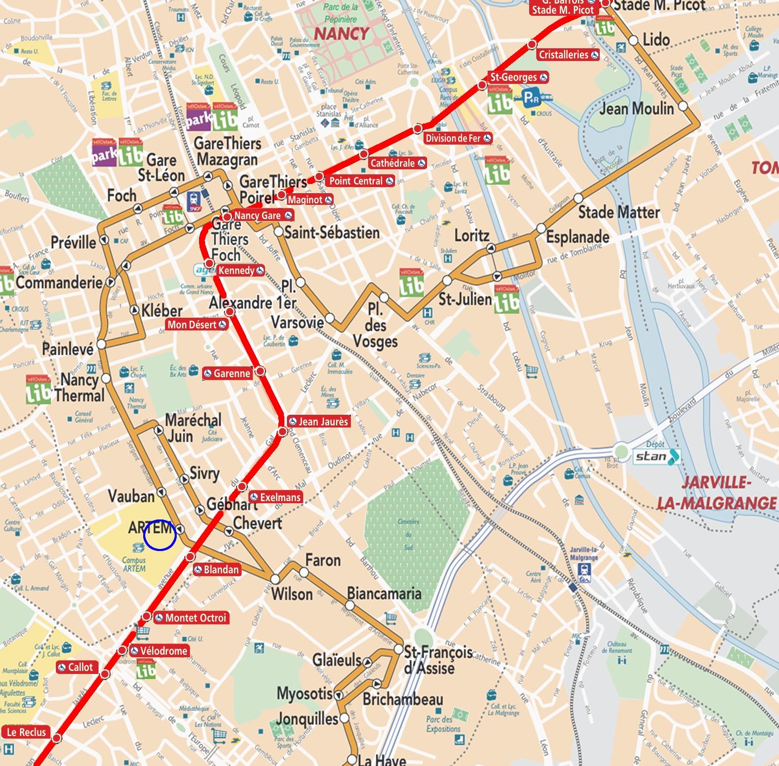 Lignes STAN 7 et 1